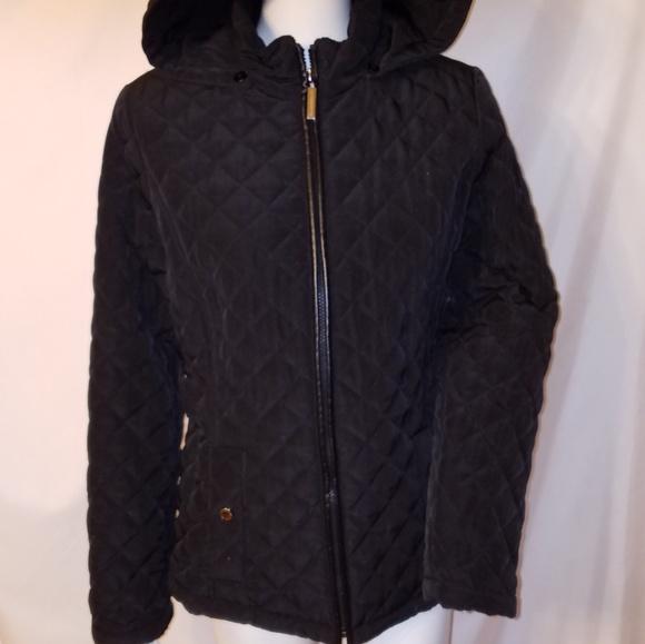 Liz Claiborne Jackets & Blazers - Liz Claiborne Black Quilted Hooded Jacket
